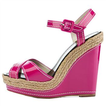 Christian Louboutin Almeria 120mm Wedges Pink