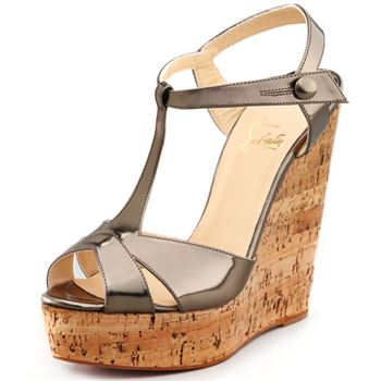 Christian Louboutin Marina Liege 140mm Wedges Taupe