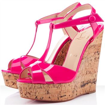 Christian Louboutin Marina Liege 140mm Wedges Pink
