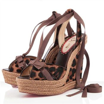 Christian Louboutin Isabelle 140mm Wedges Leopard