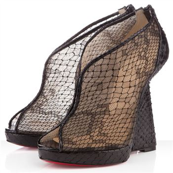 Christian Louboutin Janet 120mm Wedges Black