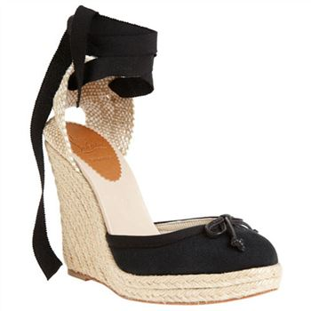 Christian Louboutin Carino Plato 120mm Wedges Black