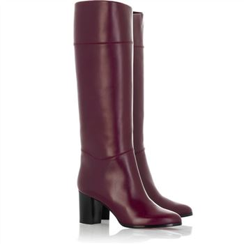Christian Louboutin Tuba 80mm Boots Claret