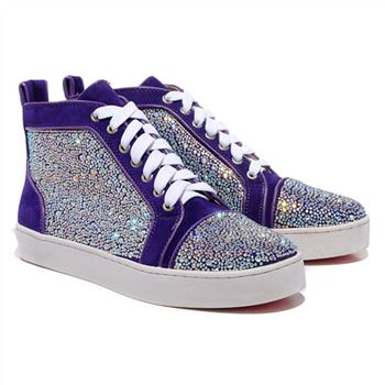 Christian Louboutin Louis Strass Sneakers Parme