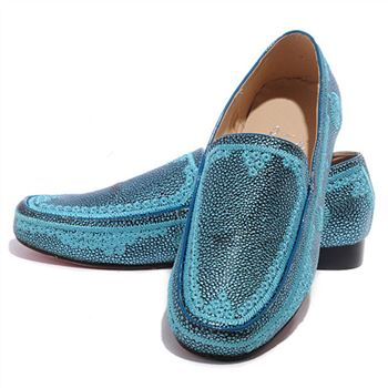 Christian Louboutin Croc Maroc Loafers Blue