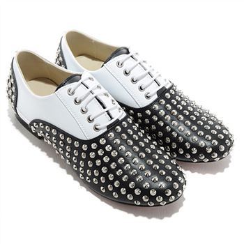 Christian Louboutin Fred Spikes Loafers Black