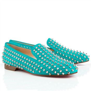 Christian Louboutin Rolling Spikes Loafers Caraibes
