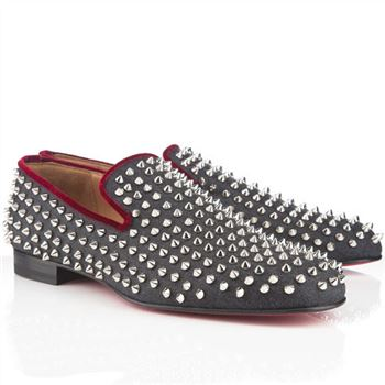 Christian Louboutin Rollerboy Spikes Loafers Navy