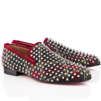 Christian Louboutin Rollerboy Spikes Loafers Red