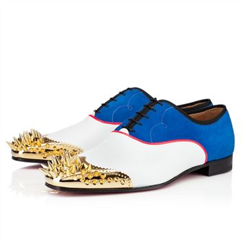 Christian Louboutin Tyronito Loafers White/Blue