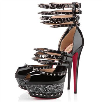 Christian Louboutin Isolde 160mm Peep Toe Pumps Black