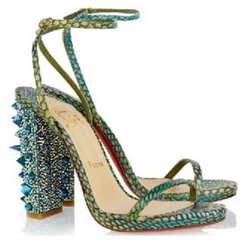 Christian Louboutin Au Palace 120mm Sandals Green