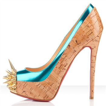 Christian Louboutin Asteroid 140mm Platforms Caraibes