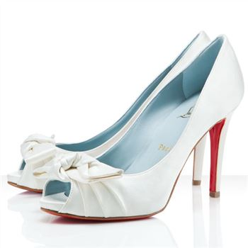 Christian Louboutin Madame Butterfly 100mm Special Occasion Off White