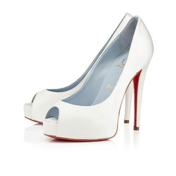 Christian Louboutin Vendome 120mm Special Occasion Off White