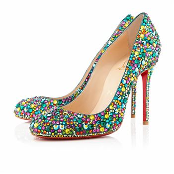 Christian Louboutin Fifi Strass 100mm Special Occasion Multicolor