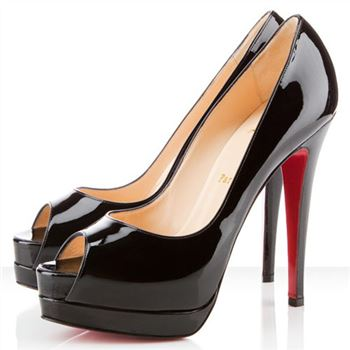Christian Louboutin Altadama 140mm Peep Toe Pumps Black