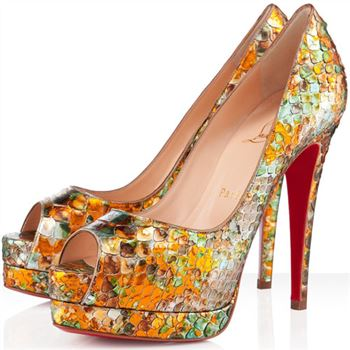 Christian Louboutin Altadama 140mm Peep Toe Pumps Multicolor