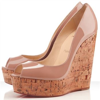 Christian Louboutin Uue Plume 140mm Wedges Nude