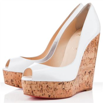 Christian Louboutin Uue Plume 140mm Wedges White