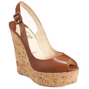 Christian Louboutin Uue Plume 140mm Wedges Brown