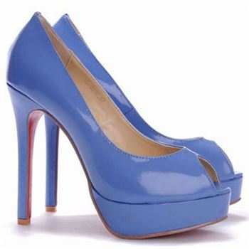 Christian Louboutin Altadama 140mm Peep Toe Pumps Blue