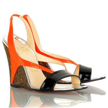 Christian Louboutin Yasmine 100mm Wedges Orange