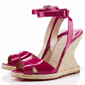 Christian Louboutin You Love 120mm Wedges Rose Matador