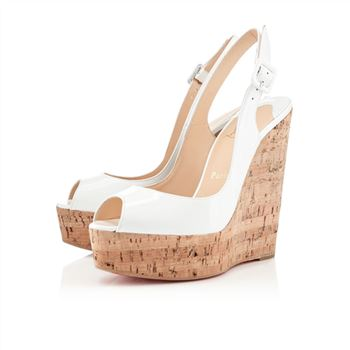 Christian Louboutin Une plume 140mm Wedges White