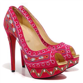 Christian Louboutin Bollywoody 140mm Peep Toe Pumps Hot Pink