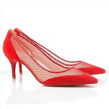 Christian Louboutin Mireille Mesh 80mm Pumps Red