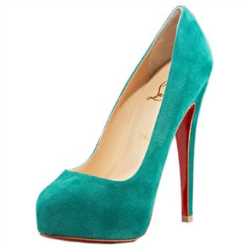 Christian Louboutin Miss Clichy 140mm Pumps Caraibes