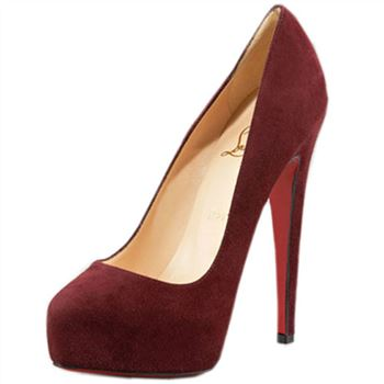 Christian Louboutin Miss Clichy 140mm Pumps Wine