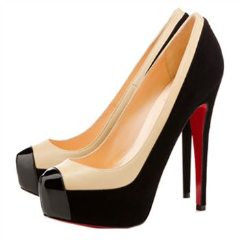 Christian Louboutin Mago Two Tone 160mm Pumps Black