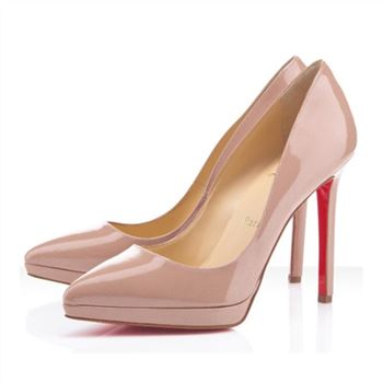 Christian Louboutin Pigalle Plato 120mm Pumps Nude