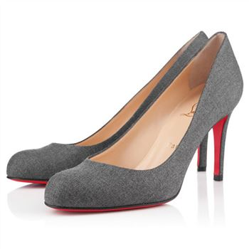 Christian Louboutin Simple 100mm Pumps Grey