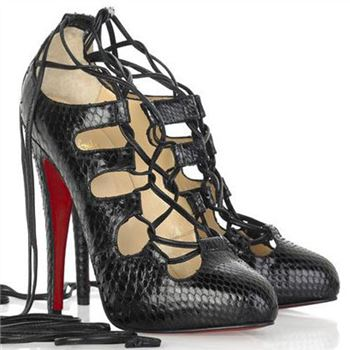Christian Louboutin Bloody 120mm Mary Jane Pumps Black