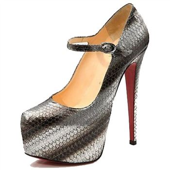 Christian Louboutin Lady Daf 160mm Mary Jane Pumps Grey