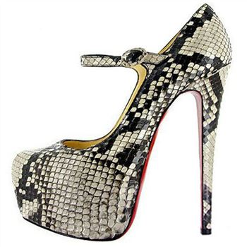 Christian Louboutin Lady Daf 160mm Mary Jane Pumps Roccia