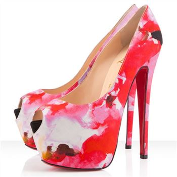 Christian Louboutin Highness 160mm Peep Toe Pumps Pink