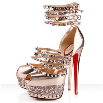 Christian Louboutin Isolde 160mm Peep Toe Pumps Gold