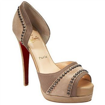 Christian Louboutin Henry 140mm Peep Toe Pumps Nude