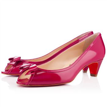 Christian Louboutin Milady 40mm Peep Toe Pumps Pink