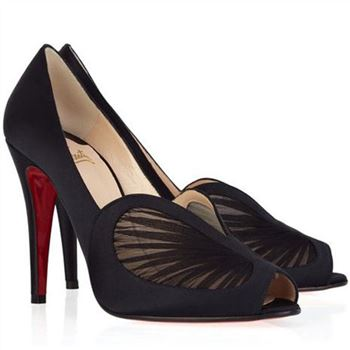 Christian Louboutin Papilipi 100mm Peep Toe Pumps Black