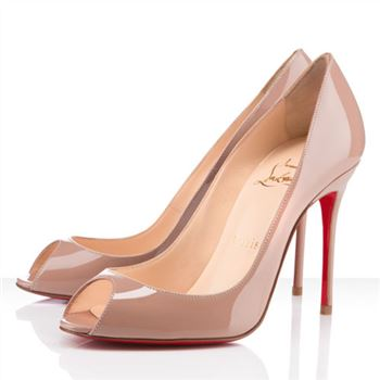 Christian Louboutin Sexy 100mm Peep Toe Pumps Nude