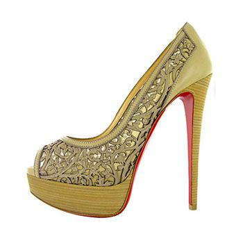 Christian Louboutin Pampas 140mm Peep Toe Pumps Green