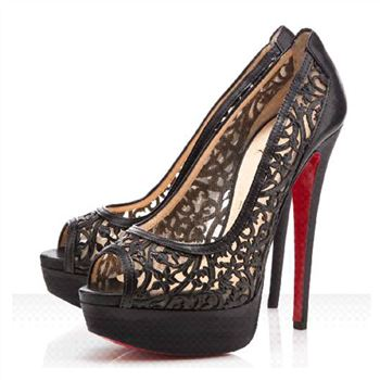 Christian Louboutin Pampas 140mm Peep Toe Pumps Black