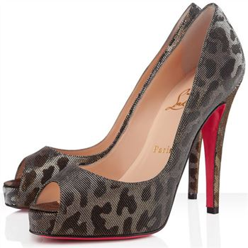 Christian Louboutin Very Prive 120mm Peep Toe Pumps Gold