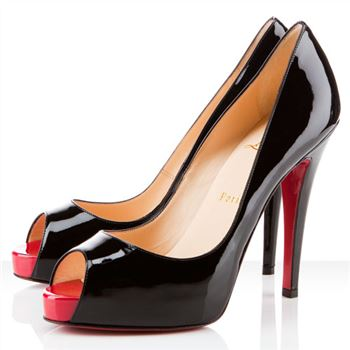 Christian Louboutin Very Prive 120mm Peep Toe Pumps Black