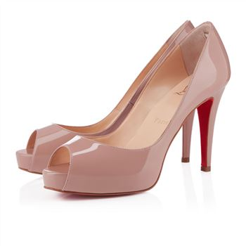 Christian Louboutin Very Prive 100mm Peep Toe Pumps Nude